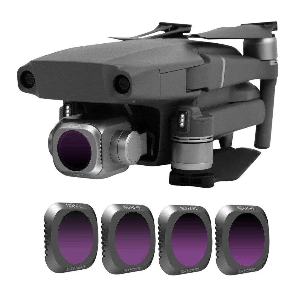 Filtre d'objectif de caméra SUNNYLIFE ND8/16/32/64 ND-PL pour DJI MAVIC 2 ZOOM/PRO Kit de Drone pour DJI Mavic 2 accessoires de Drone