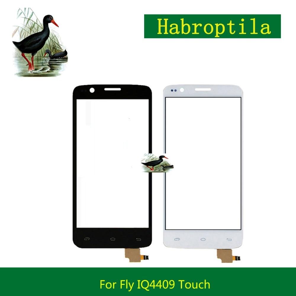 10Pcs/lot High Quality 4.5 Touch Screen For FLY IQ4409 Quad ERA Life 4 IQ 4409 Digitizer Front Glass Lens Sensor Panel