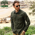 Senlin Jeep 2016 Men's Shirt Long Sleeve British Style Male Casual Cotton Cargo Military style green Tactical Clothing uniform