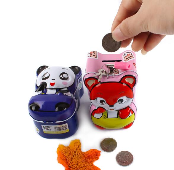 1PC Money Box Safes Coins Piggy Bank Despicable Me Cash Box Tirelire Tin Metal Piggy Bank Cofre De Moeda for Child ELG 008