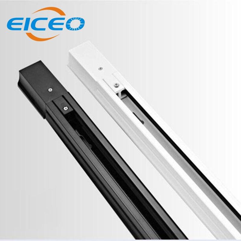 (EICEO) 0.5 m LEVOU Faixa de Luz Iluminação Da Trilha Trilho Trilho de Fixação Para a Iluminação Da Trilha 2 fios de luz Lâmpada Pista Ferroviário Livre grátis