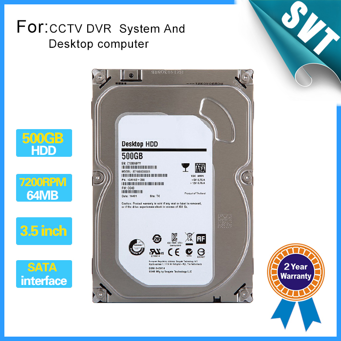 все цены на 500GB SATA Hard Drive Hard Disk with 16MB 7200RPM for NVR DVR CCTV system and Desktop PC Computers using CCTV Accessories SK-239