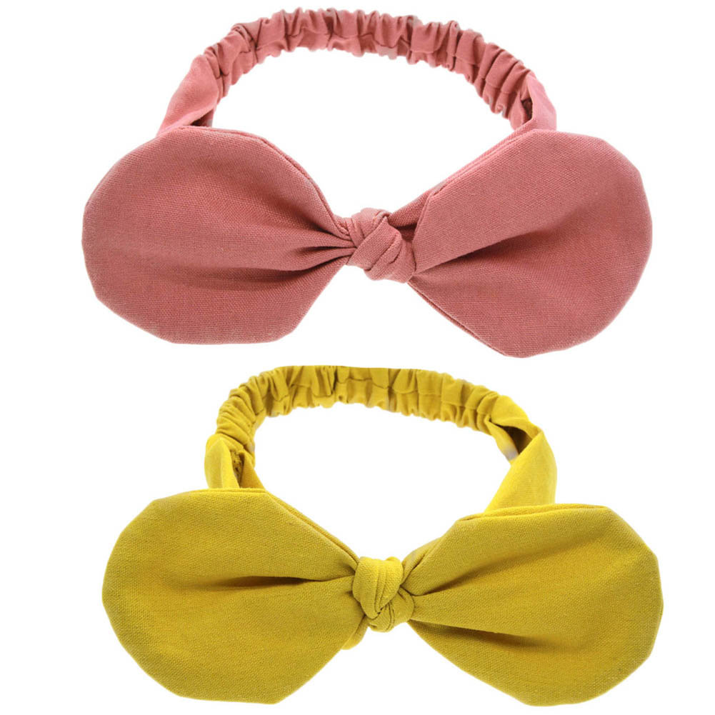 Kids Headband Pair Top Knotted Headband Fashion Hair Bands Cotton Headwrap Flower Hair Accessories
