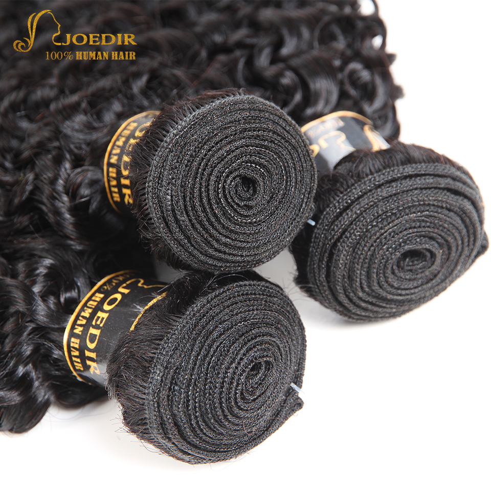 Joedir Hair Malaysian Curly Weave Human Hair 3 Bundles Natural Color 10-26 Inches Kinky Curly Hair Extension Free Shipping