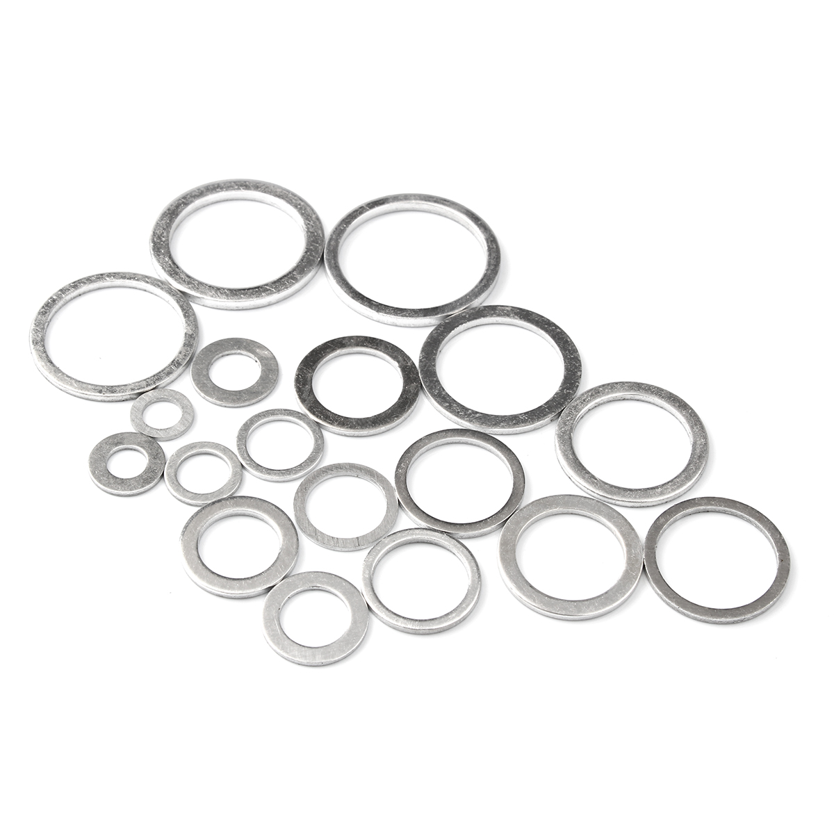 Image 5 - 450Pcs Gaskets Washers Gasket Aluminum Flat Metal Washer Gasket Assorted Aluminum Sealing Rings set With Box-in Washers from Home Improvement