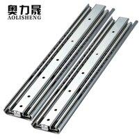 Heavy Duty Slide Rail 71mm Width 10 40 Inch Three Fold Full Pull Drawer Slide Rail