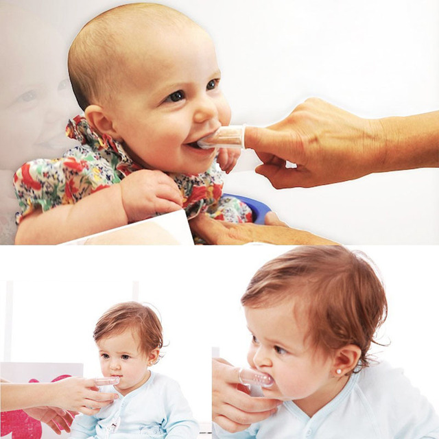 Baby Finger Toothbrush Silicon Toothbrush+Box Children Teeth Clear Soft Silicone Infant Tooth Brush Rubber Cleaning Baby Brush
