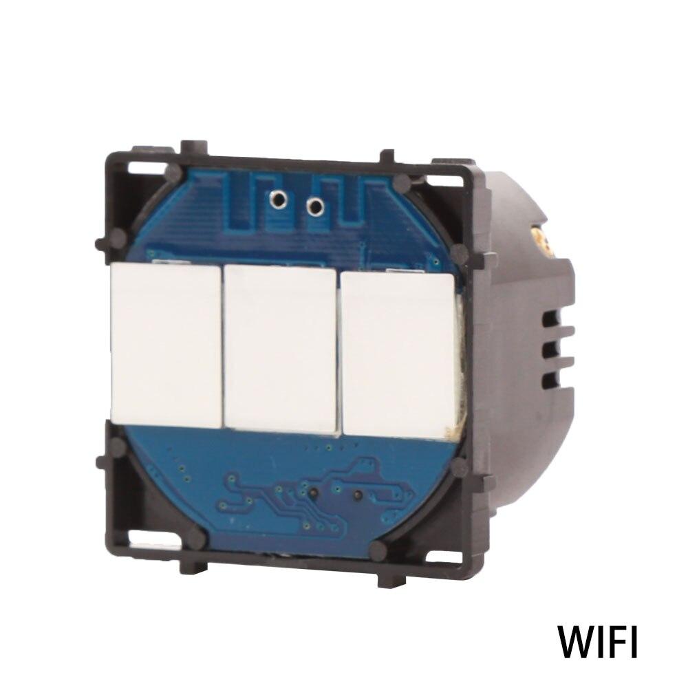 Bingoelec EU Standard WIFI Switch Part 3 Gang 1 Way Wireless Control Smart Home Automation Switch Part By Tuya APP
