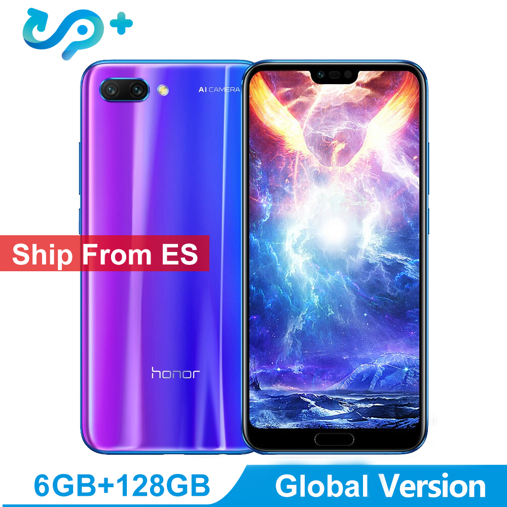 """Ship from ES Huawei Honor 10 Global Version 4GB 128GB SmartPhone NFC Mobile Phone 5.8"""" 4*Camera 24MP 3400mAh 3 Days Arrive"""