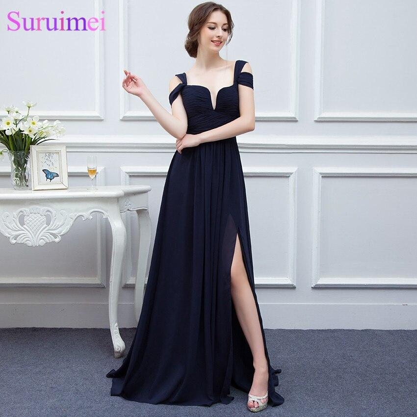 Aliexpress.com : Buy Elegance Red Girls Evening Gown Low Cut High ...