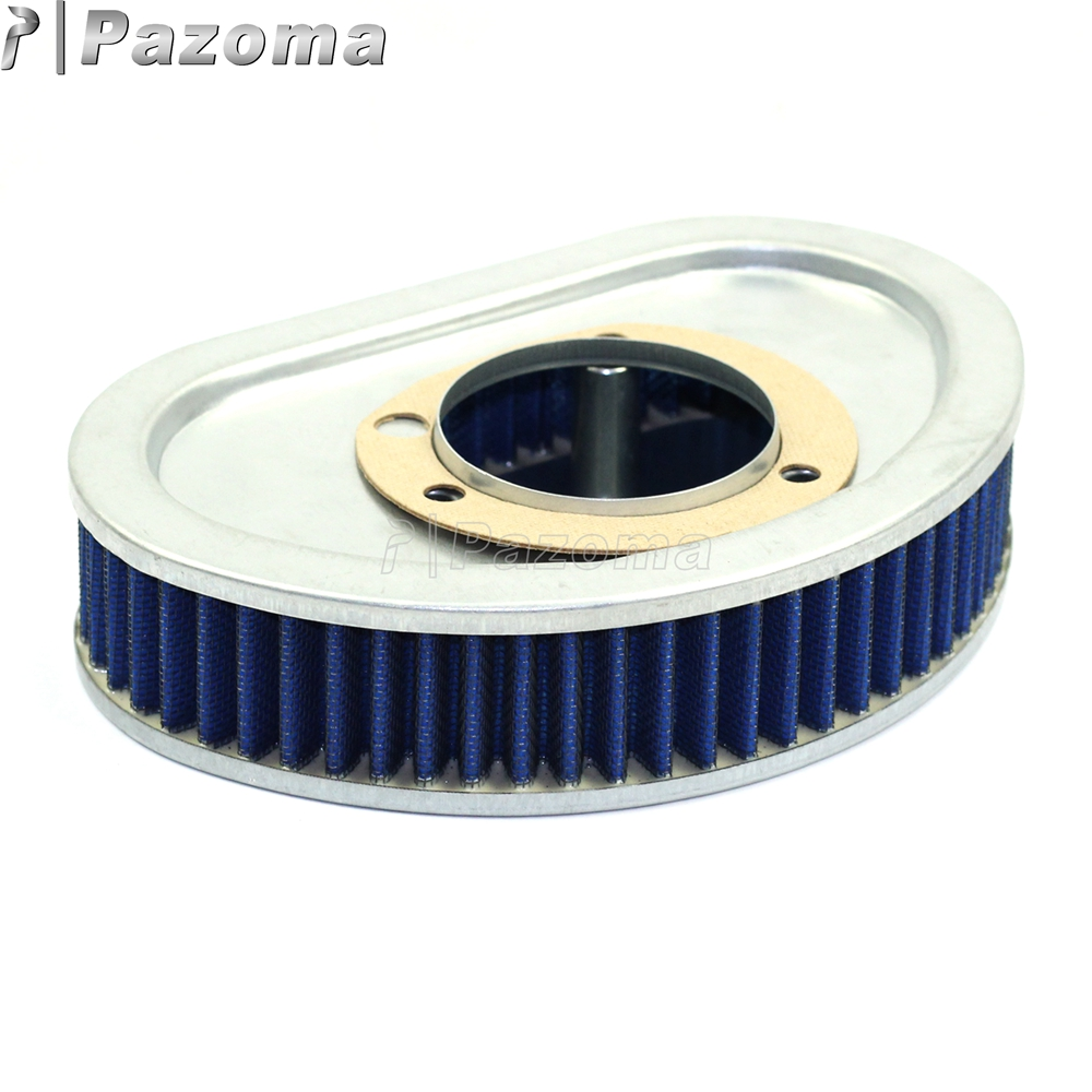 Blue Motorcycles Replacement Air Filter Motor Air Cleaner for Harley Fat Bob Dyna Super Glide 2008-2015 53000459
