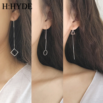 H:HYDE Fashion Heart Earrings Tassel Chain Earrings Geometric Earrings For Women Long Earrings Boucle D'oreille Femme fashion new matte geometric tassel earrings
