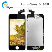 Hot Truth 10pcs Lot No Dead Pixel For IPhone 5 LCD Display Replacement Touch Screen Digitizer