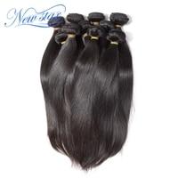 New Star Hair Brazilian Straight Virgin Human Hair Weave 10 Bundles 100% Unprocessed Cuticle Aligned Hair Weaving No Tangle