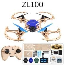 купить ZLRC Zl100 Wooden Aircraft Diy Drone 720p Camera Wifi Fpv Altitude Hold Headless Mode Training Educational Rc Quadcopter Drone дешево