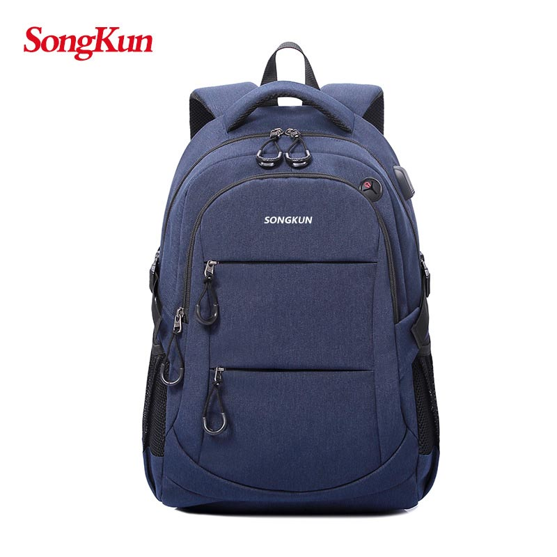 Anti-theft Backpack 15.6 inch Laptop Backpack With USB Charge Waterproof Oxford Boys Travel Bags School Bags For Teenage Girls 14 15 15 6 inch flax linen laptop notebook backpack bags case school backpack for travel shopping climbing men women