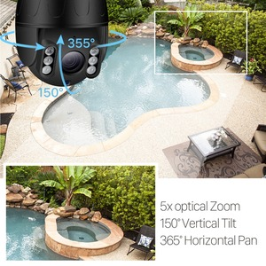 Image 2 - BESDER 1080P PTZ Wifi Camera 5X Optical Zoom 2.7 13.5mm Lens Outdoor Speed Dome IP Camera CCTV Security Wireless camara CamHi