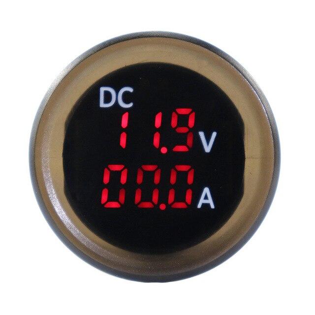 $ 18.2 12-24V Digital Voltmeter Ammeter Voltage Current Meter LED Display Voltmeter IP67 for RV Yatch Camper Marine Boat Accessories