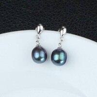 Natural Freshwater Cultured Drop Pearl Earrings Jewelry for Elegant Women