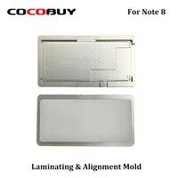 Novecel 1 Note 8 용 정밀 알루미늄 몰드 설정 LCD 스크린 포지셔닝 정렬 매트 용 라미네이팅 몰드