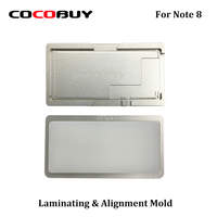 Novecel 1 Set Precision aluminium mould for Note 8 Laminating mold for LCD Screen Positioning Alignment mat