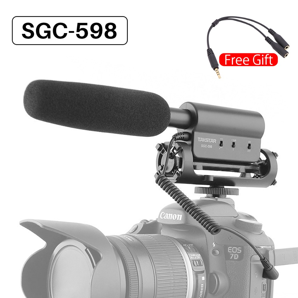 Takstar SGC-598 Camera Photography Conference Shotgun MIC Video Microphone for Interview Movie Pickup for Nikon Canon DSLR