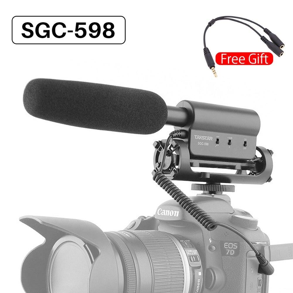 Takstar SGC-598 Vlog de Gravação de Vídeo Câmera de Vídeo Microfone Entrevista Microfone para DSLR Camera Nikon Canon Microfone Condensador