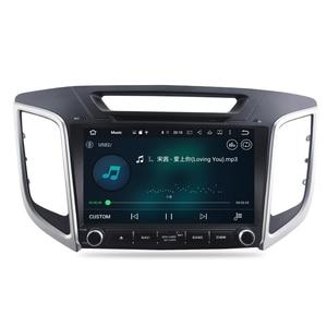 "Image 4 - 9"" IPS Screen Android 9.0 Car DVD Player For Hyundai ix25 Creta 2014 2018 Stereo 2 Din Video GPS Navigation Radio FM Multimedia"