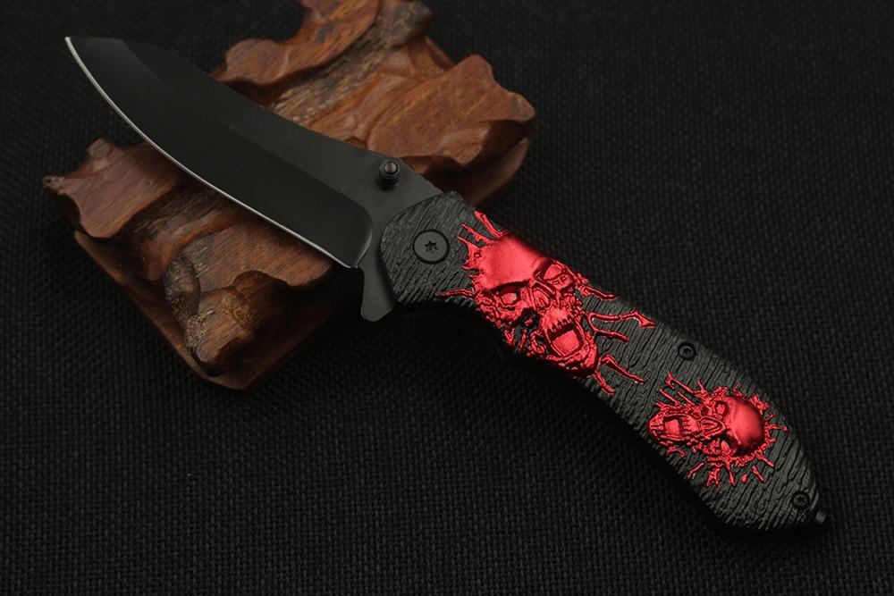 Moda czaszki taktyczny składany nóż ostry kamea uchwyt nóż - Narzędzia ręczne - Zdjęcie 5