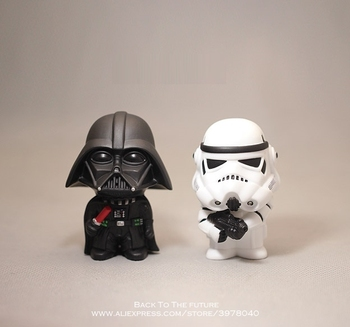 Disney Star Wars 10cm Anime figurka lalka przebudzenie mocy czarna seria Darth Vader zabawki model dla dzieci prezent