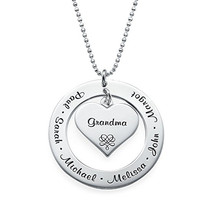 Custom Personalized Engraving Names Pendant Necklace Family Grandmother Mother with Kids Choker Gift for Her rose gold color family tree necklace mother s necklace with birthstone grandmas gift custom gift for mother
