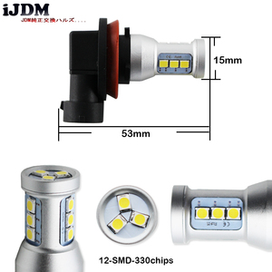 Image 3 - 2pcs Amber Yellow 144 SMD High Power LED H11 H8 H9 (H16 JP) Bulbs For Fog Lights Driving Lamps/Red 6000k white