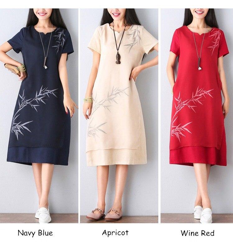 562b3da77db6f Long Shirt Dress Women Print Casual Dress Summer Cotton Linen Dresses Short  Sleeve Maxi Dress Plus Size Indian Robe Vestidos