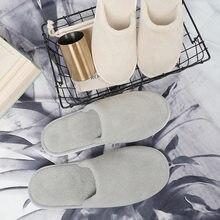 5/10 pares chinelos descartáveis homens viagem de negócios sapatos de passageiros em casa hóspedes chinelo hotel beauty club lavável sapatos chinelos