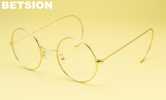 Child Vintage Cable Temple Round Eyeglass Frames Spectacles Rx able ...