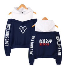 EXO Love Shot Off-Shoulder Hoodies (4 Colors)