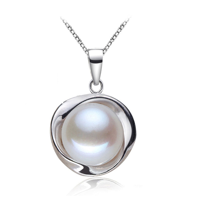Real pearl pendants 925 sterling silver freshwater pearl pendant for real pearl pendants 925 sterling silver freshwater pearl pendant for womennatural pearl pendant necklace aloadofball Gallery