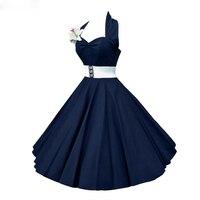 Plus Size 4XL Dress Retro Vintage Audrey Hepburn Halter Polka Dot 50s 60s Rockabilly Belted Dress