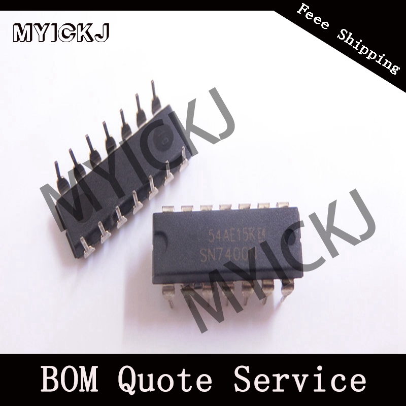 5pcs SN7400N GATE NAND 4CH 2-INP 14DIP IC CHIP