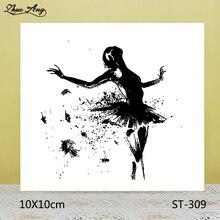 ZhuoAng Beautiful dance Transparent seal / sealed DIY scrapbook album decoration card seamless