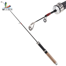 1pcs 60cm Fishing Rod+ ice fishing reel carbon pole High quality shrimp rods tackle for winter