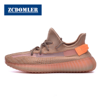 ZCDOMLER 2019 Men Women Sneakers Y 350 Flyknit Casual Shoes Kanye West Ladies Shoes Breathable Chaussure Homme Tenis Trainers