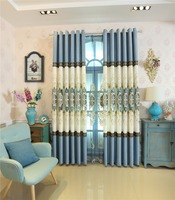 FYFUYOUFY European Style Upmarket Splicing Embroidered Curtain Living Room Hollow Carved Light Luxury Decorative Fabric Hot