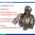 Турбокомпрессор GTB1649V для Hyundai Tuscon Sonata Santa Fe 2 0 CRDi D4EA 2.0L 28231-27480 757886-5007S 757886-0007
