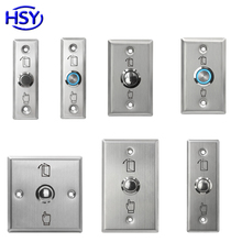 Stainless Steel Door Release Exit Button Optional LED Blue Backlight Emergency Push Switch For Access Control System