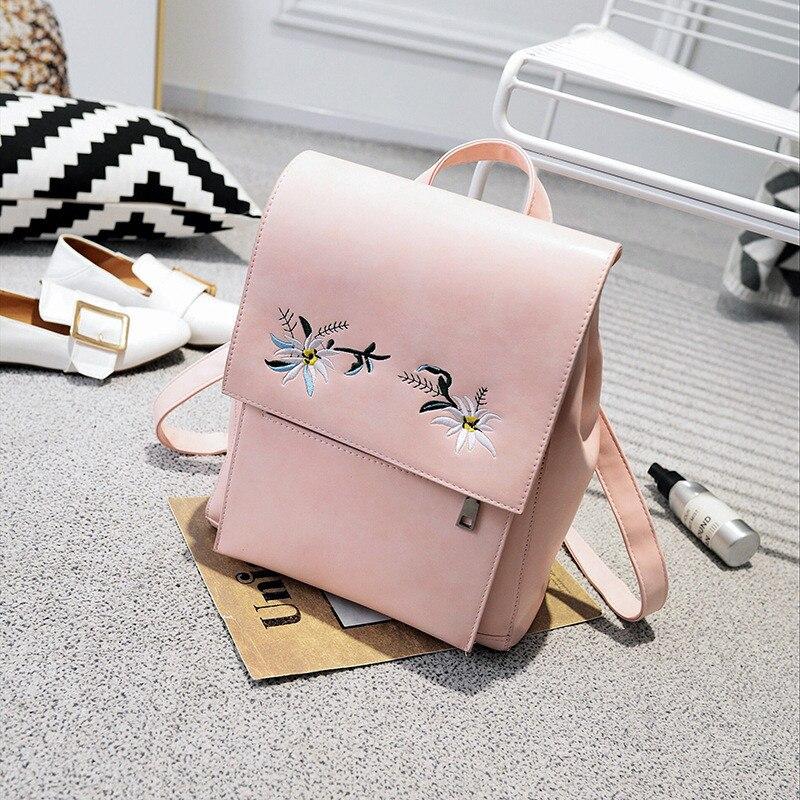YBYT brand 2018 new casual embroidery flowers women cute backpack girl schoolbag ladies travel rucksack student school backpacks