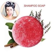 60 г шампунь мыло против перхоти масло Управление Питательный Уход за волосами аромат мыло ручной работы корицы мытье волос мыло
