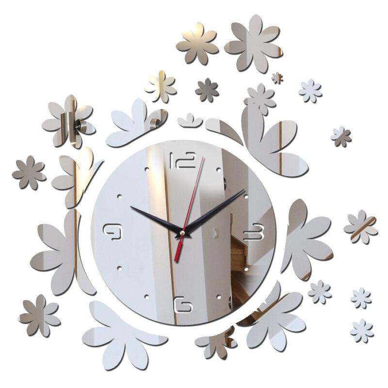 Горячая Распродажа Новая акция украшения дома Акриловые зеркало DIY часы настенные часы современной гостиной 3D наклейки кварцевые часы иглы