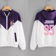 2019 NEW KPOP jimin Clothing Zipper hoodies K-pop Female Fans Clothes KPOP Zippe
