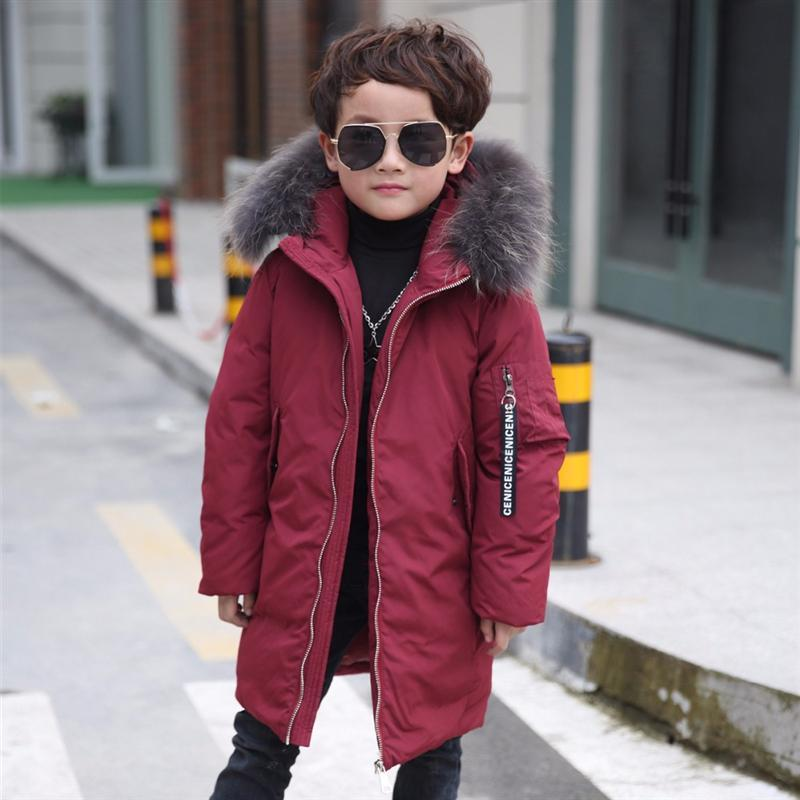2017 new down jacket coat boy jacket big children style windbreaker winter for childrens clothing kids clothes boys duck down russia winter boys girls down jacket boy girl warm thick duck down